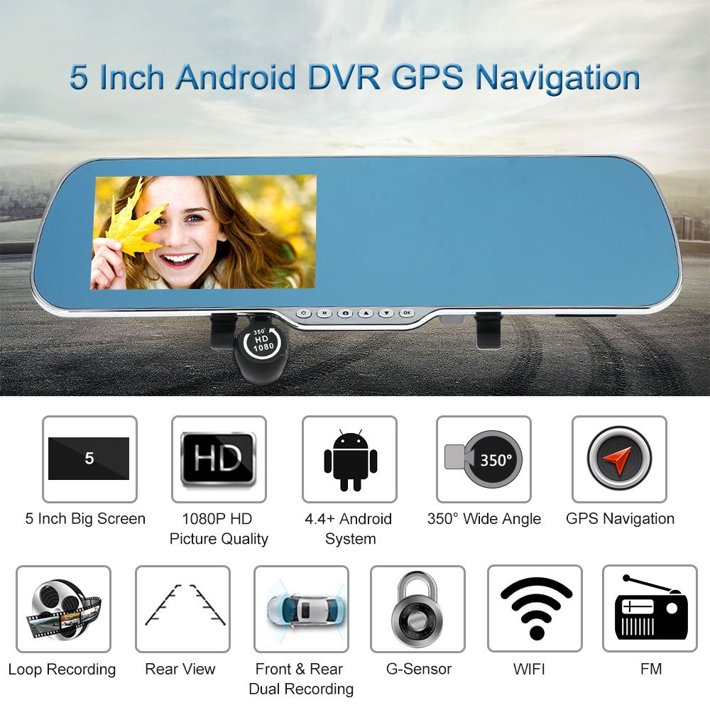 "5"" Android Smart System GPS Navigation Multifunction Car"