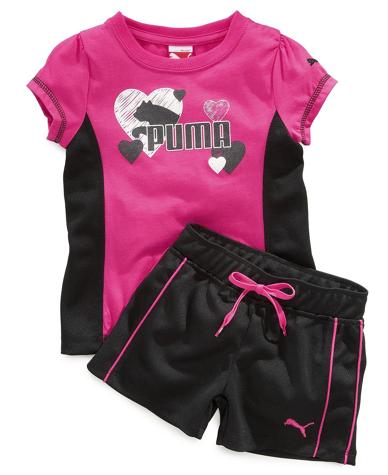 Puma Baby Set Baby Girls Two Piece Shirt and Shorts Kids Shop All