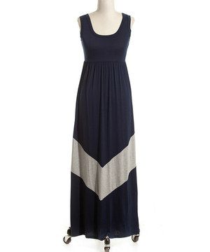 Love this Coveted Clothing Navy & Gray Zigzag Maxi Dress by Coveted Clothing on #zulily! #zulilyfinds