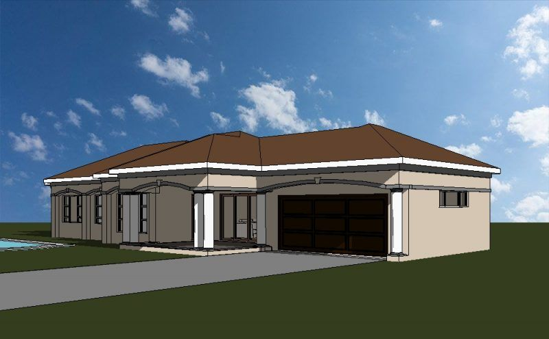 3 Bedroom House Plan A Truly South African House Design 195m2 Building Plan Architectura House Plans South Africa Tuscan House Plans Beautiful House Plans