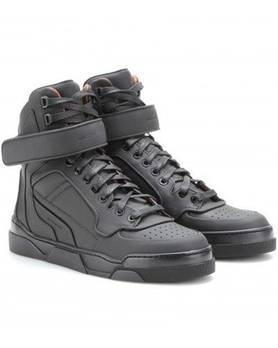 GIVENCHY // High-top-sneakers Aus Leder