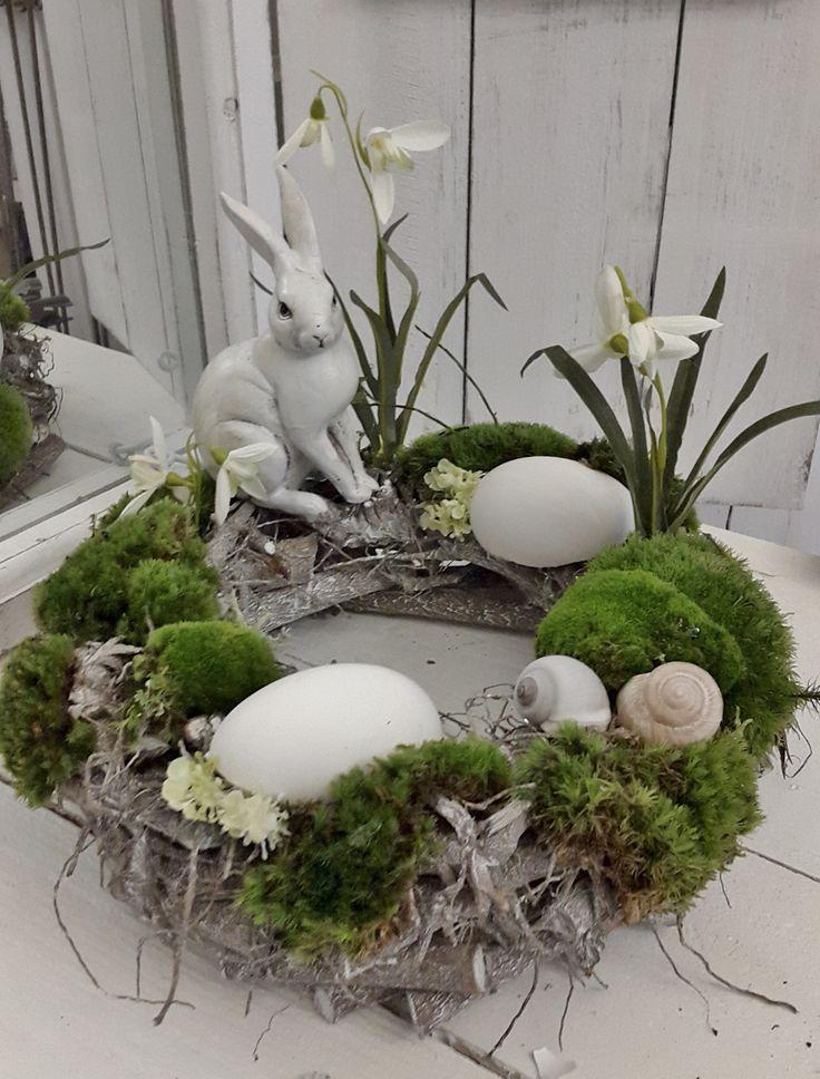 Belle couronne de table de Pâques – idées de fleurs – Blog