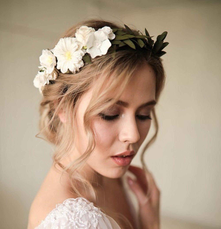 Rustic Wedding Hair Pins Champagne Hair Pins Bridal Hair Pins Bobby Pins Baby Breath Eucalyptus Hair Piece Hair Slides White Hair Piece Boho