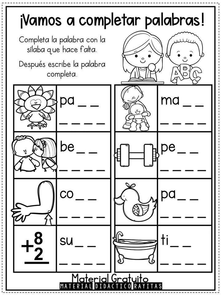 Pin De Silviaraqueletchart En Español Cuaderno De Lectoescritura Actividades De Letras Lectura De Palabras