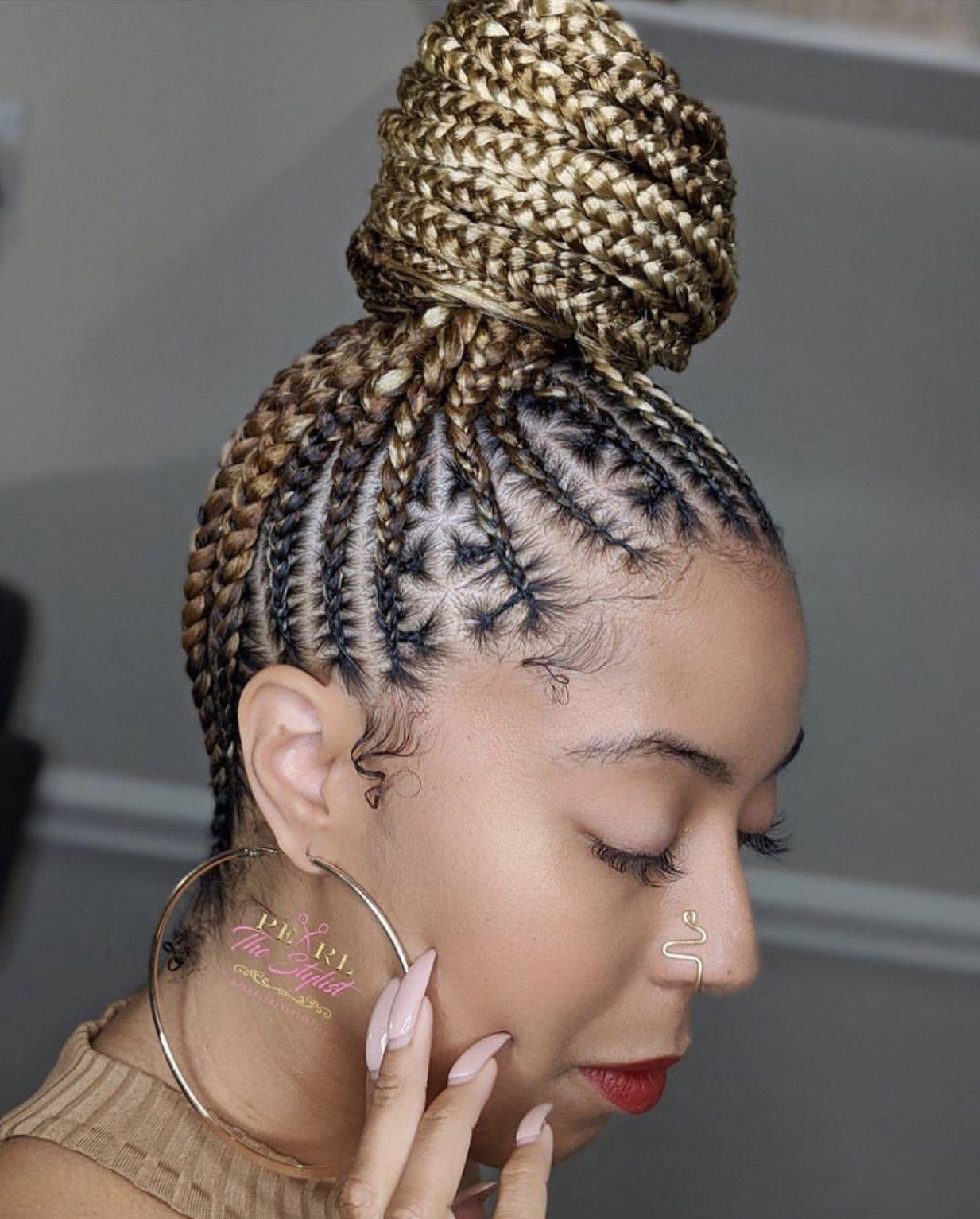 Cornrows Bun Hairstyle 2020 Hair Styles Braided Hairstyles Natural Hair Styles