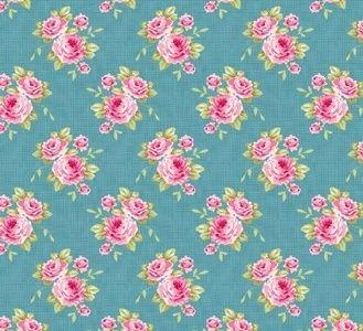 Tilda stoffen, Grandma Rose-Blauw