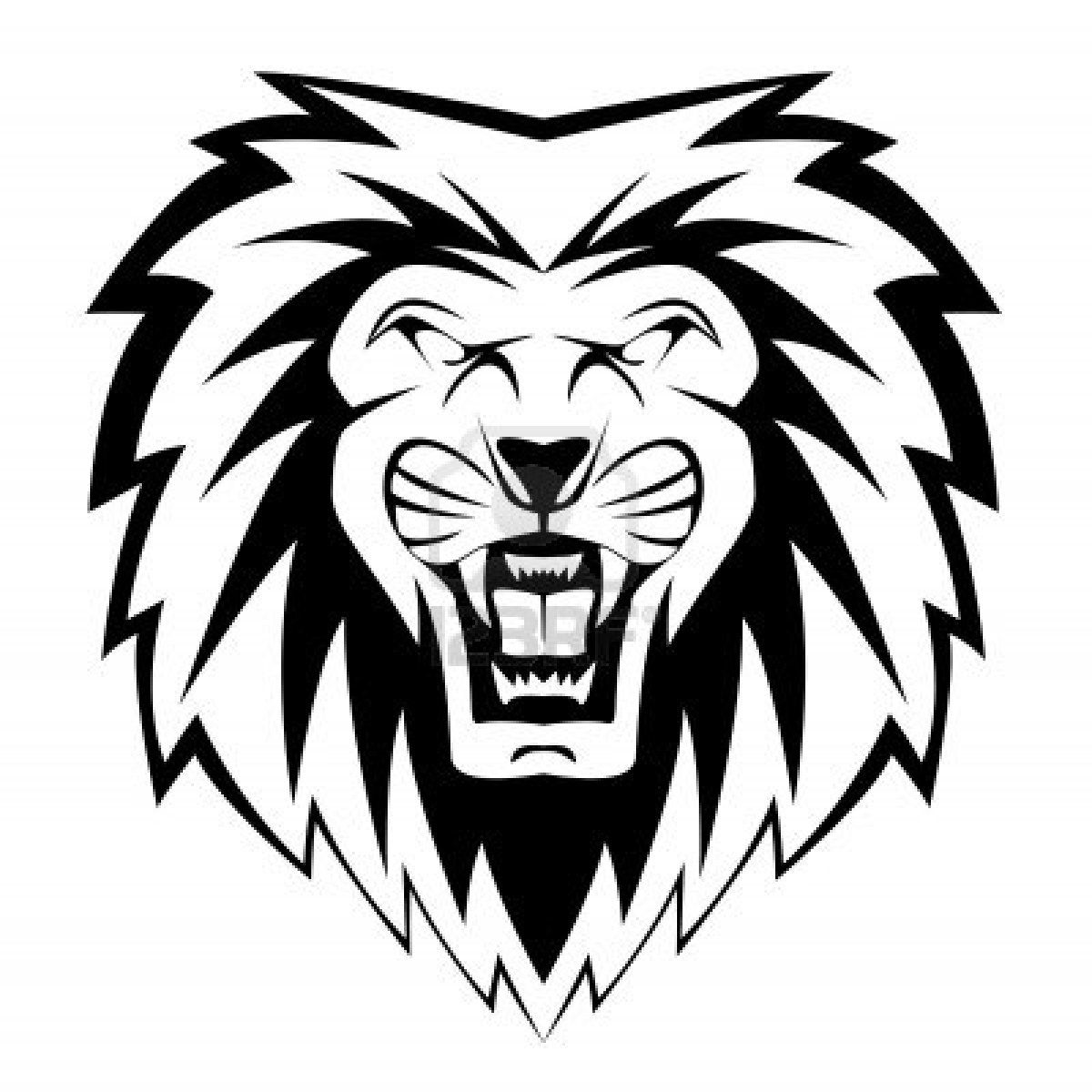 Stock Vector Cartoon lion, Lion coloring pages, Black