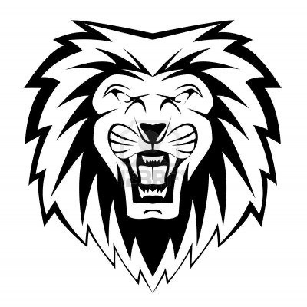 Stock Vector Cartoon lion, Lion coloring pages, Black