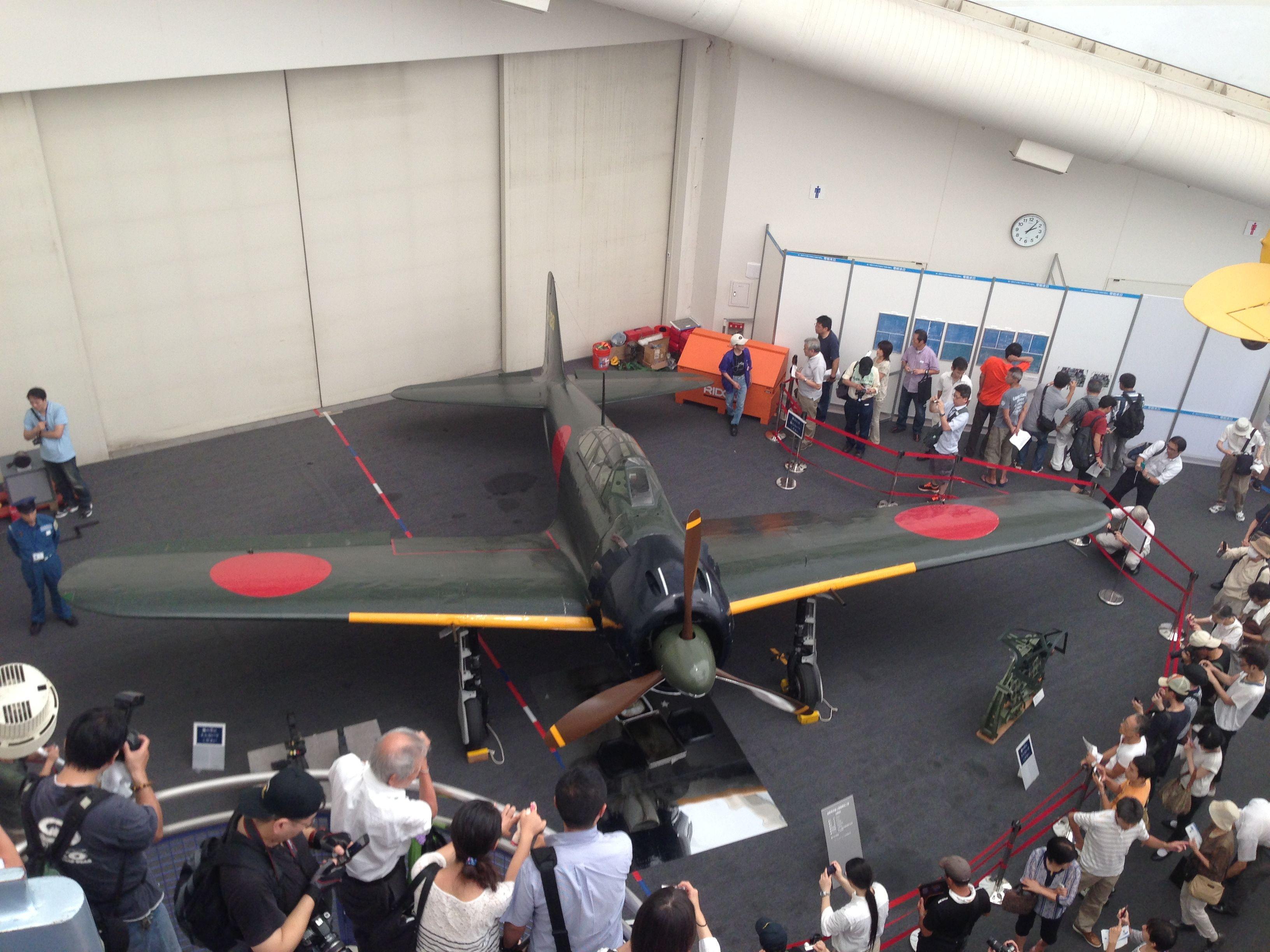 唯一現存する飛行可能なゼロ戦 Zero Fighter Exhibit In Tokorozawa 零式艦上戦闘機 戦闘機 航空機