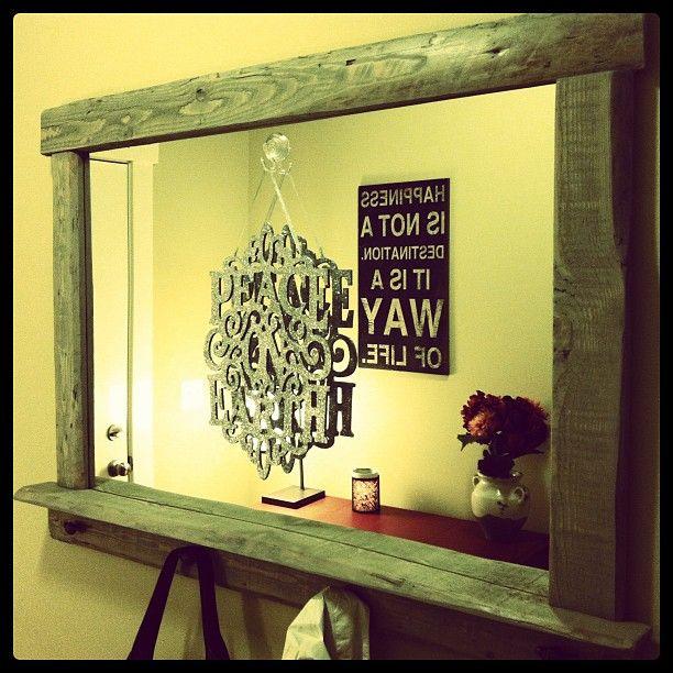 Best 25 Pallet Mirror Ideas On Pinterest Wood