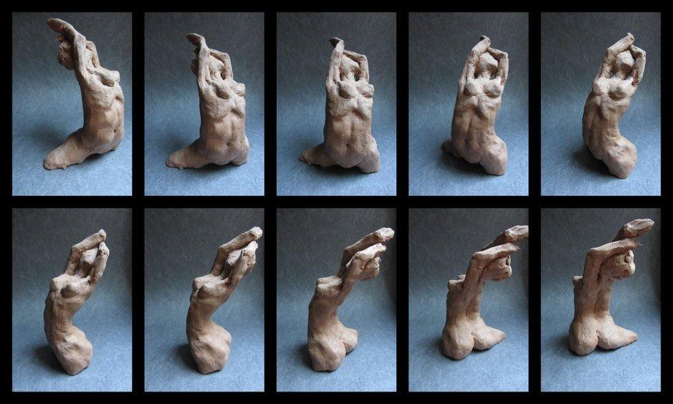 Statue de femme nue, statue d'homme nu, le nu en sculpture