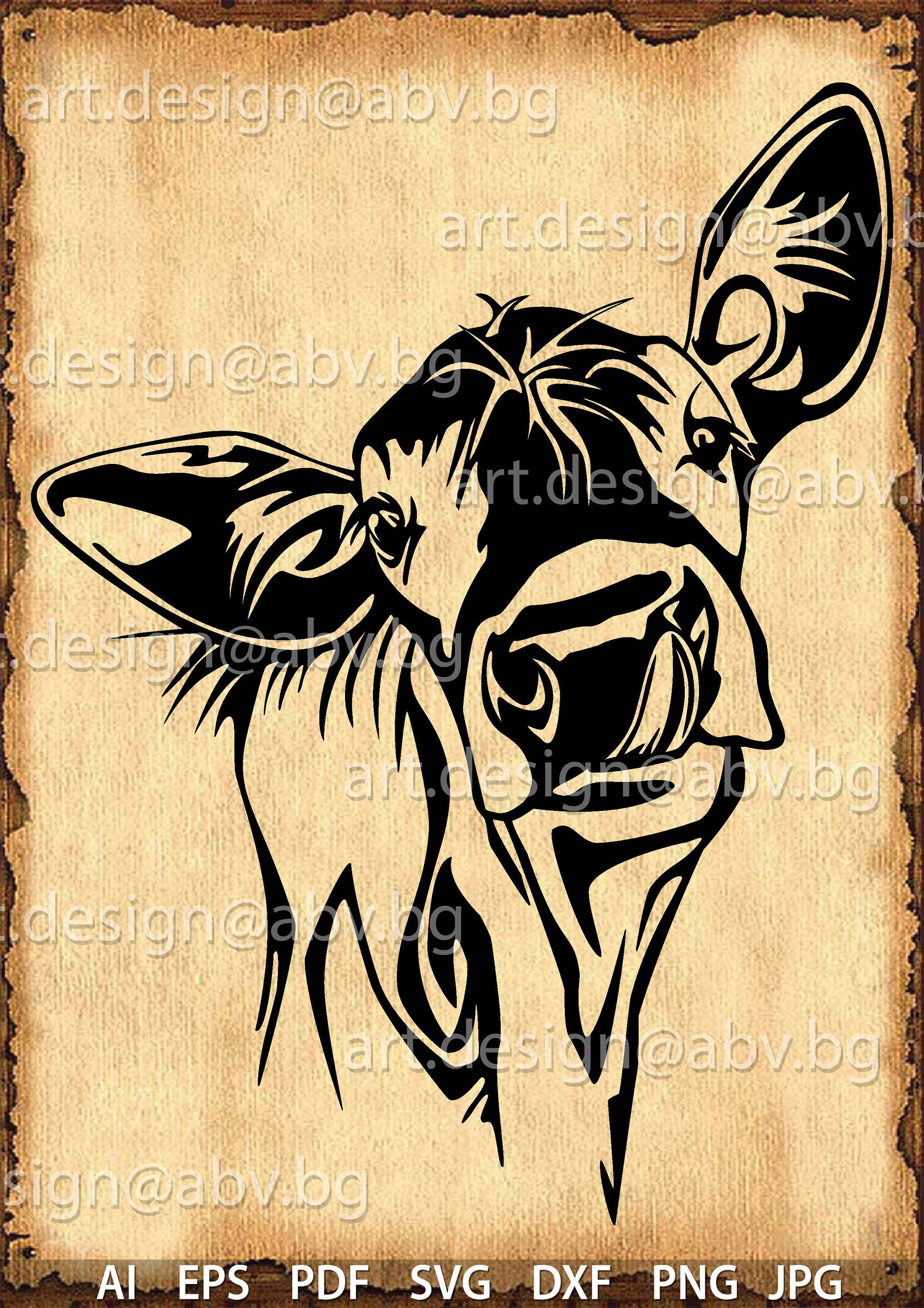 pin by d sens on vector animals svg cow calves