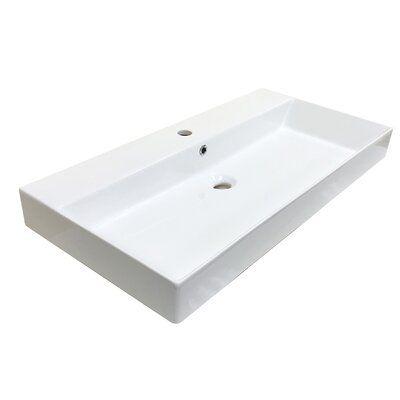Ws Bath Collections Energy Ceramic Rectangular 33 5 Wall Mount