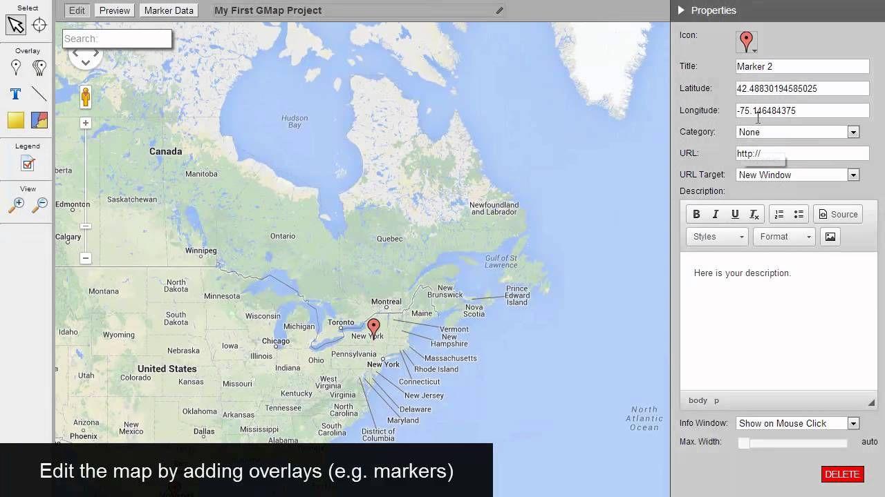 Video tutorial create publish custom google maps without video tutorial create publish custom google maps without programming sign up free account gumiabroncs Gallery