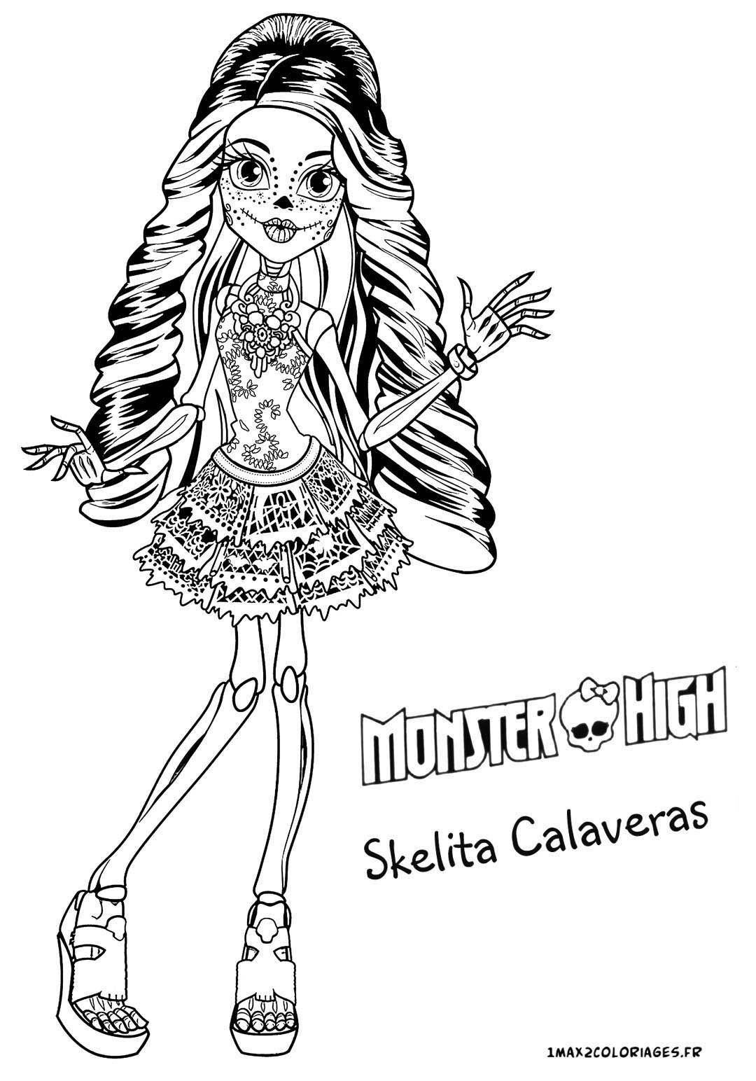 monster high coloring pages baby skelita | colouring kids | Pinterest