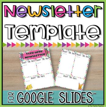 Digital newsletter template in google slides™ | Techie Teacher ...