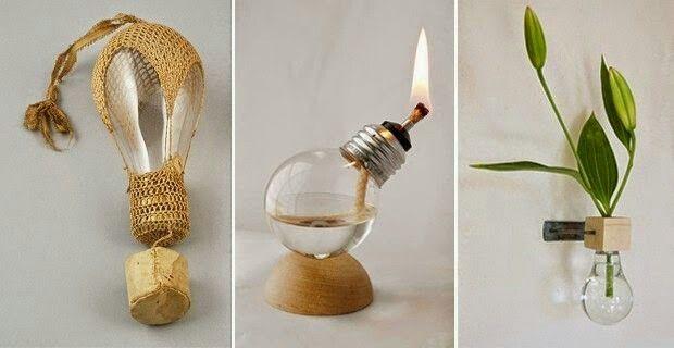 Foquitos Bombillas Recicladas Creatividad Reciclaje Decoracion Diy