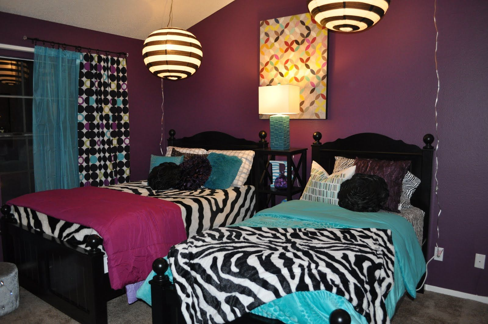purple and zebra bedroom ideas