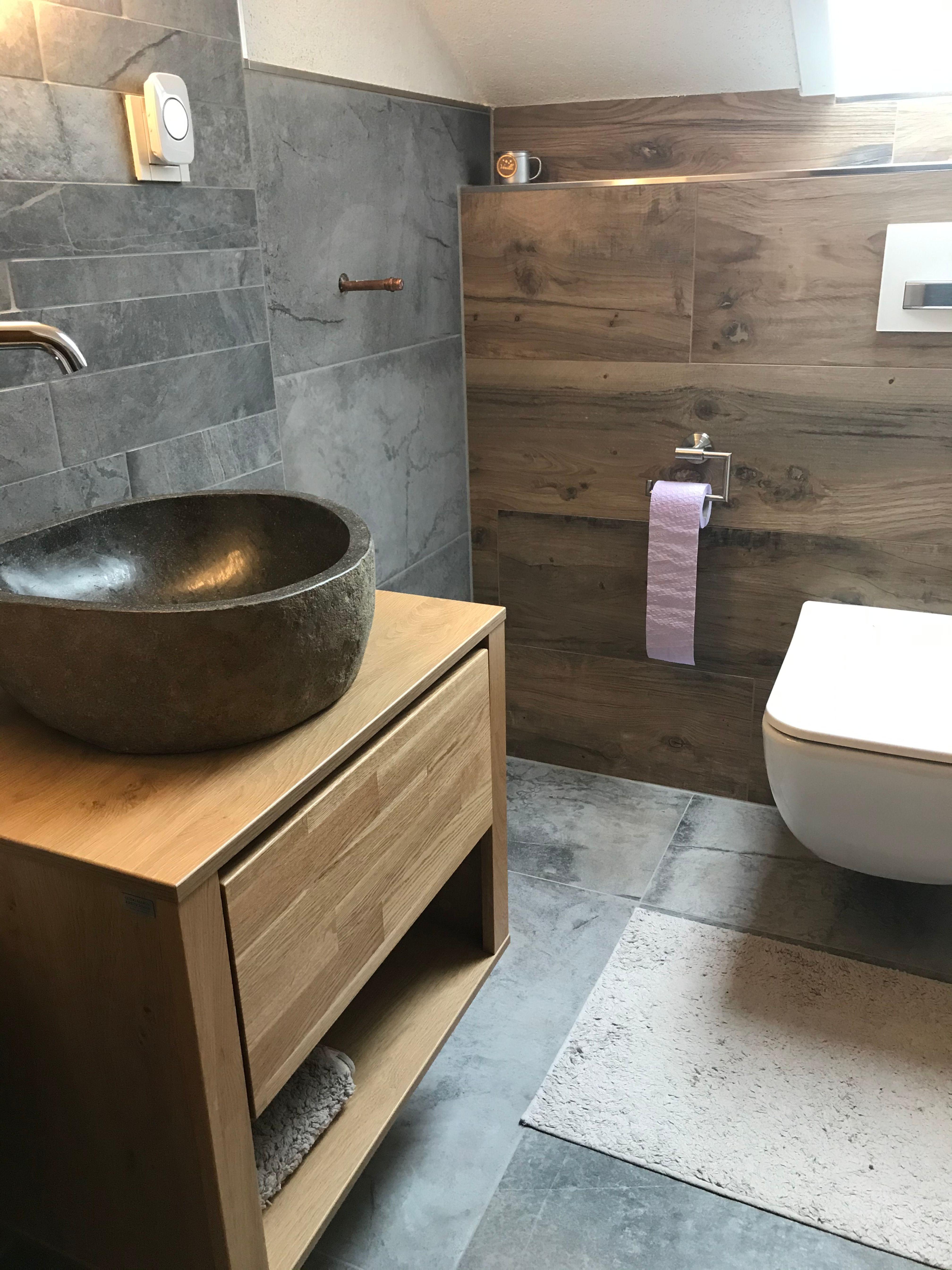 Kombiniere Dir Dein Traumbad Gaste Wc Mobel Fliesen Holzoptik Bad Wc Mit Dusche
