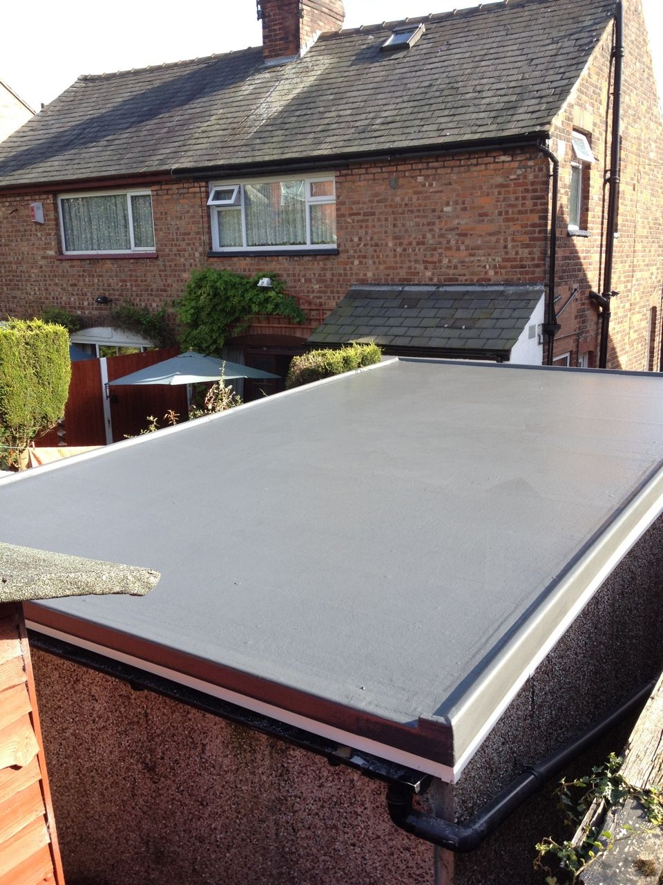 GRP Roofing To Garage Roof In Manchester, A Complete Transformation Of This Garage  Flat Roof