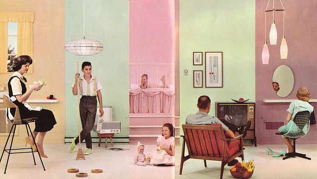 pastel world! | Pastels, Mid century and Vintage interiors