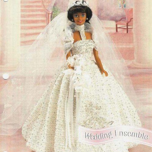 Free crochet pattern royal wedding dress barbie from for Crochet wedding dresses for sale