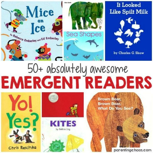 8cca6b22cf35 This list of 50+ Emergent Readers is an awesome guide for finding  developmentally appropriate books for your child!