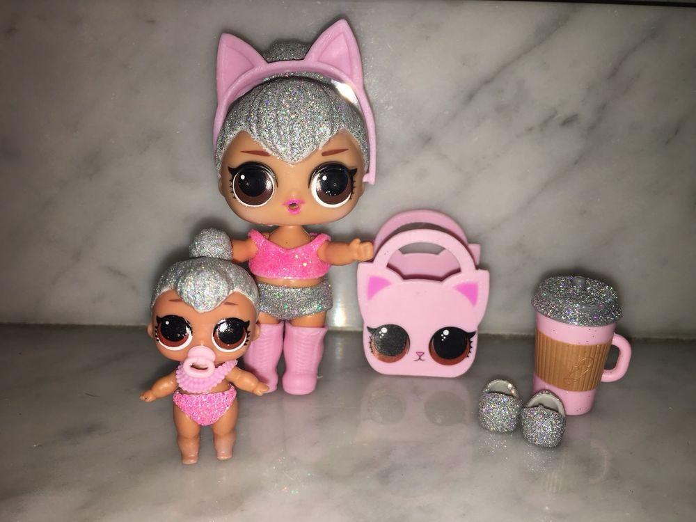 Original shoes /& bottle For LOL Surprise Dolls GLAM GLITTER KITTY QUEEN