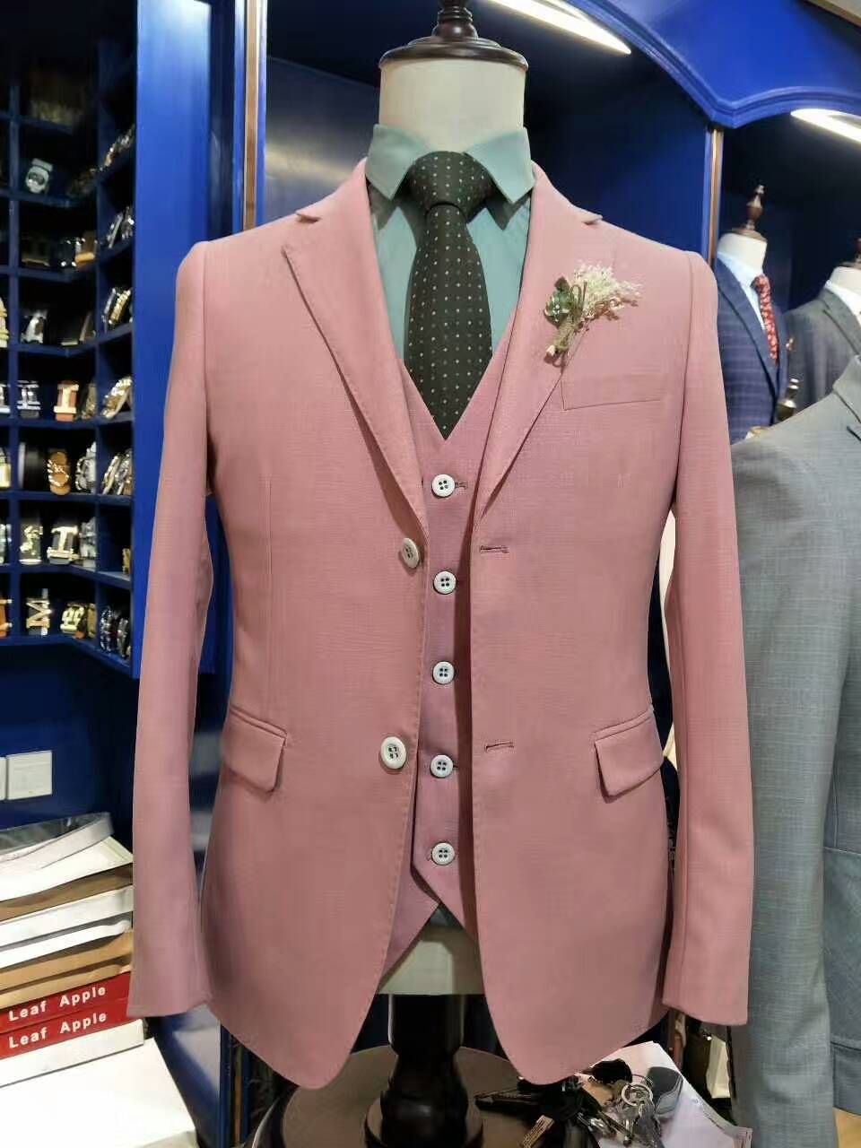 Pink dress and jacket for wedding  Click to Buy ucuc Hot Sale  summer Men High quality pink suits