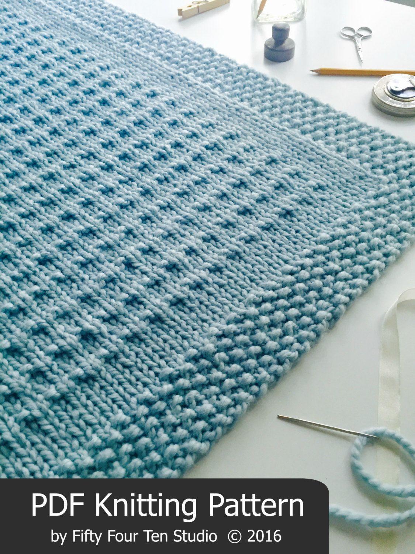 KNITTING PATTERN / Third Street Blanket / Throw / Afghan / Knit ...