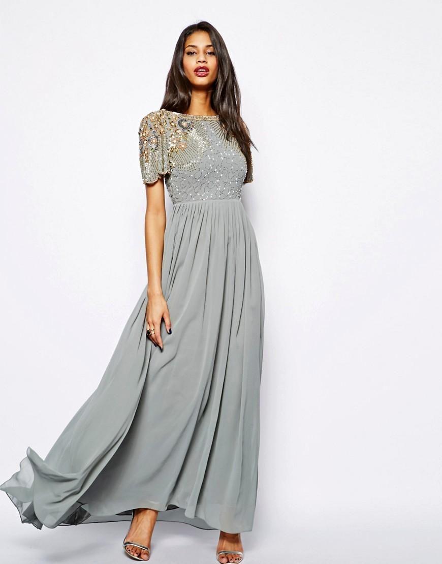 Virgos Lounge | Virgos Lounge Raina Maxi Dress with Embellished ...