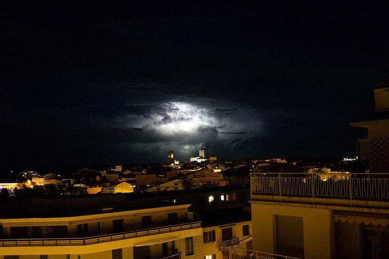 Lightning over Antibes