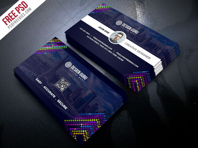 Free Psd Creative Business Card Template Psd Business Cards Creative Templates Free Business Card Templates Card Templates Free