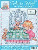 Tobin Baby 34 Inch x43 Inch Stamped Cross Stitch Quilt - Girl Bedtime Prayer