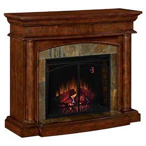 Marvelous Aspen Electric Fireplace Mantel Package In Meridian Cherry Interior Design Ideas Tzicisoteloinfo