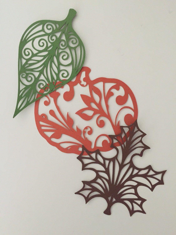 Вытынанка открытка осень