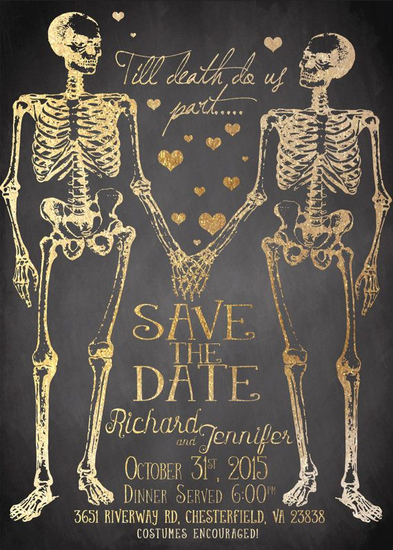 Halloween Save the Date PRINTABLE by LaughingWillowDesign