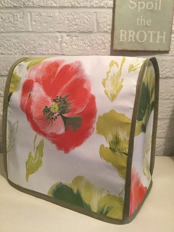 Beautiful Painterly Large Poppy Floral PVC Food by