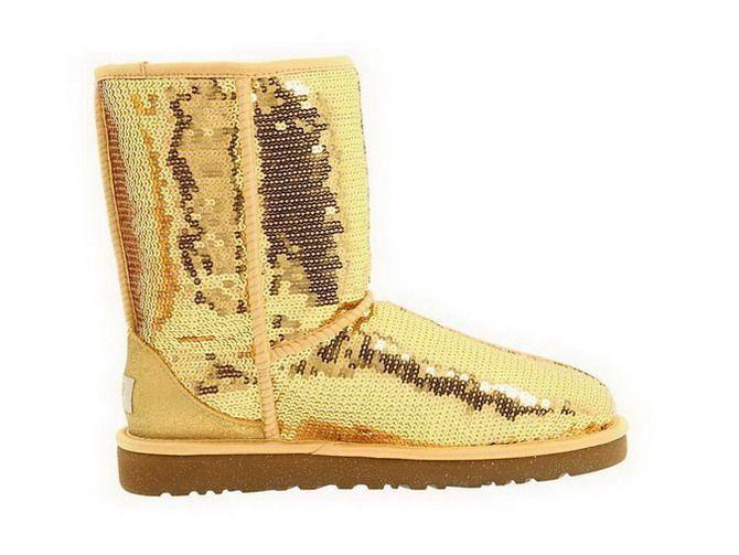 2013 Classic Short Sparkles 3161 Golden UK   Ugg boots
