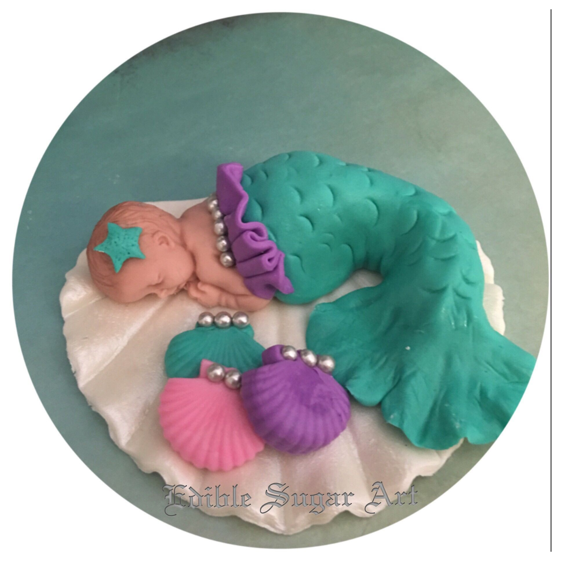 MERMAID BABY SHOWER Cake Topper Party Decorations Mermaid Nursery