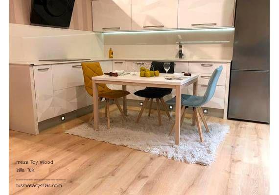 Mesa extensible Toy Wood de Cancio, estilo nórdico | mesas ...