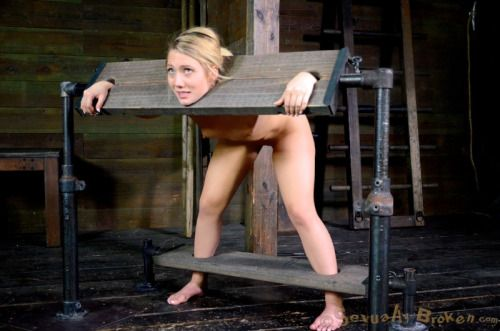 Wife pillory bdsm