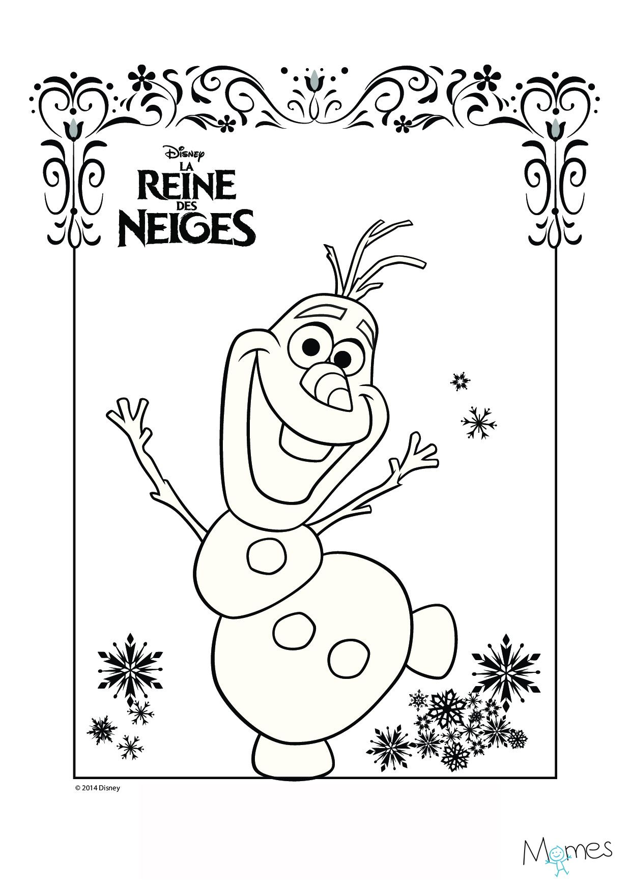 Coloriage reine des neiges olaf cin ma coloriage - Coloriage de frozen ...