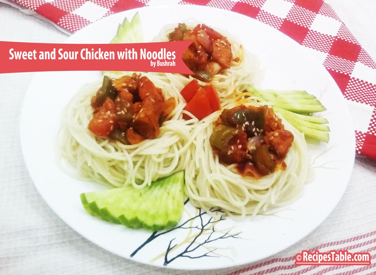 sweet and sour chicken with noodles  recipe