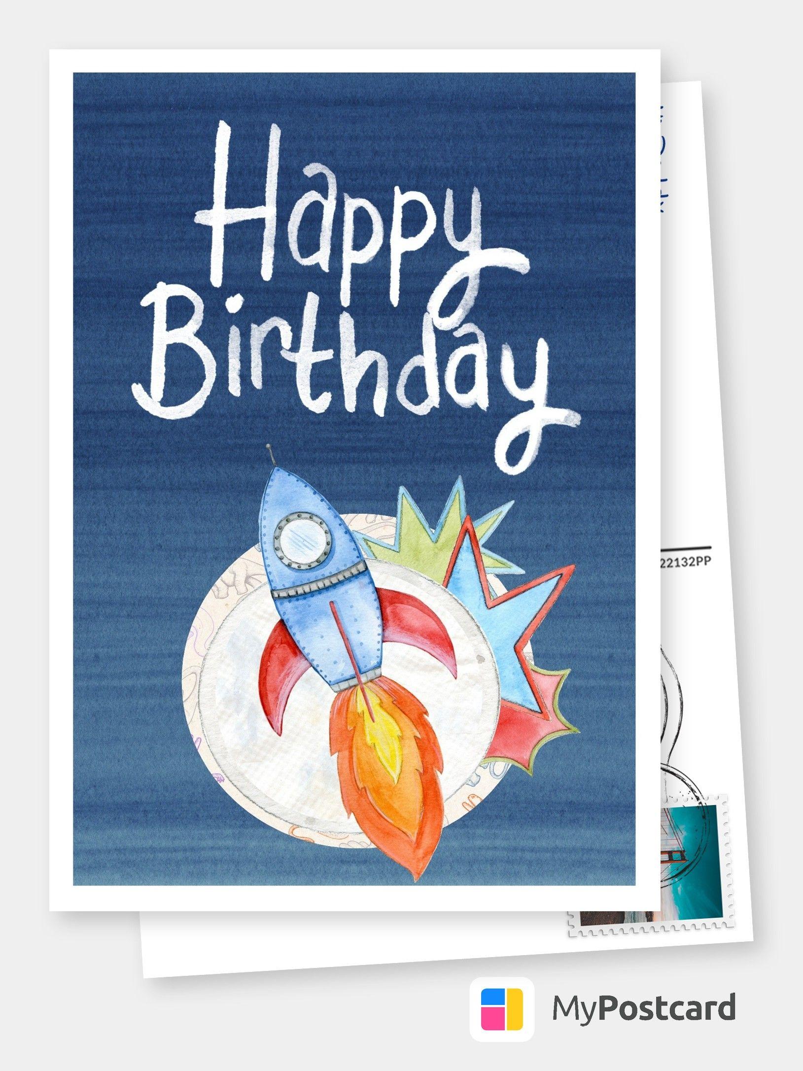 Die Rakete Hebt Ab Birthday Postcards Birthday Card Online
