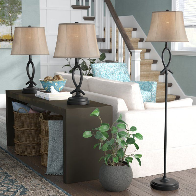Cardella 3 Piece Floor and Table Lamp Set Table lamp
