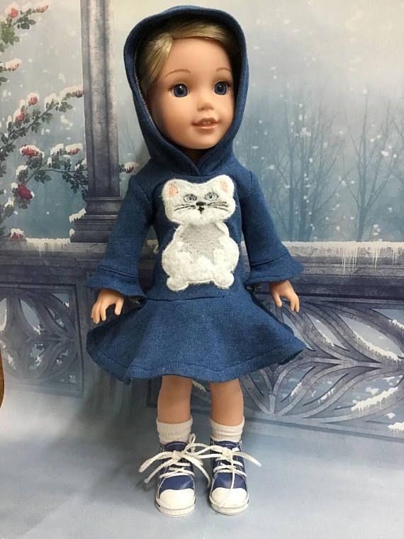 "14.5"" Wellie Wishers from American Girl........Handmade Knit Dress ..."