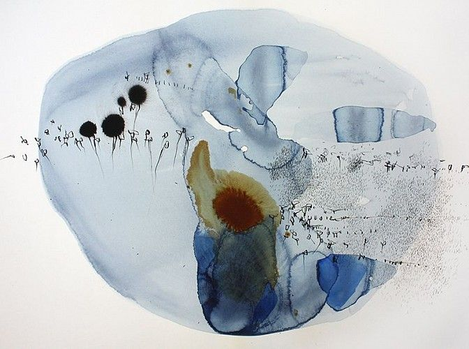 Ana Zanic Origin Cluster W 2014 4 1 2014 Watercolor And Ink On