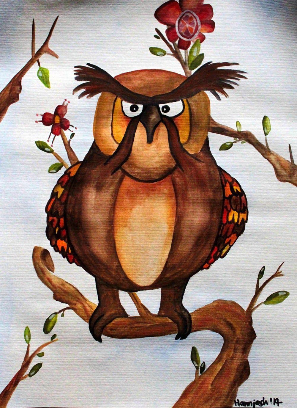 {Illusration} Grumpy Owl