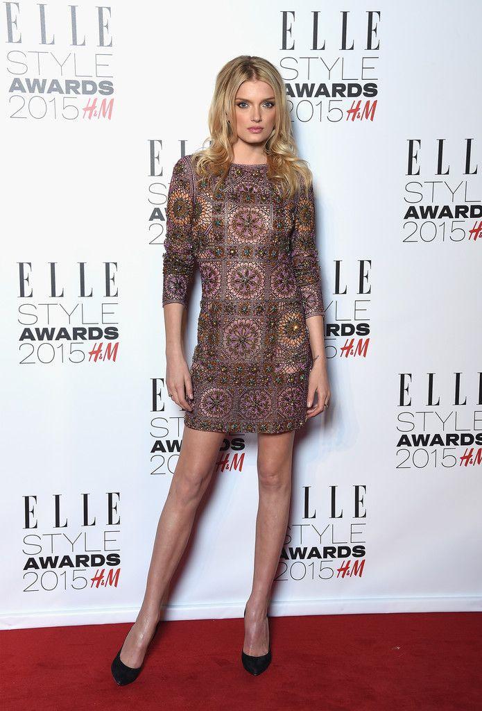 a83bb008165 Lily Donaldson Beaded Dress - Lily Donaldson Looks - StyleBistro